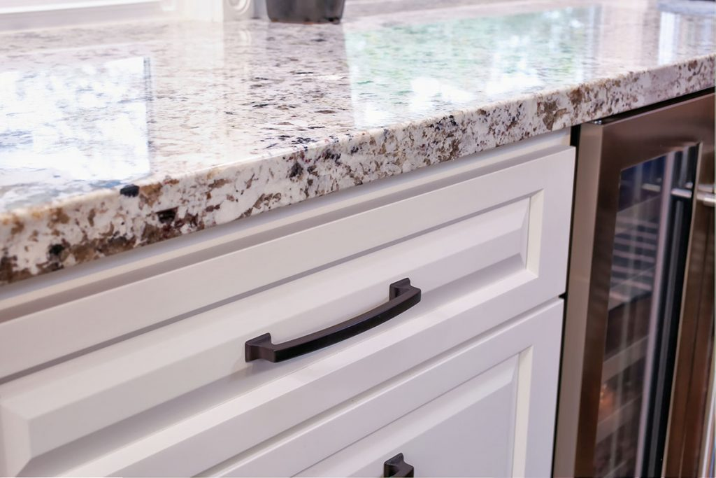 Gorgeous natural stone granite countertop.