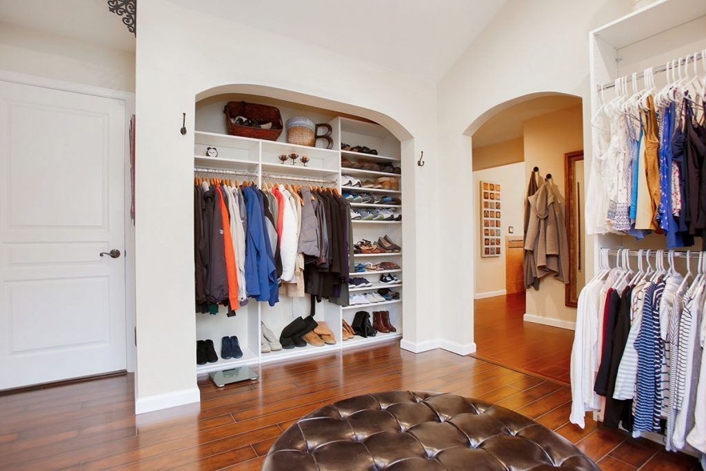 Plenty of space, shelving and storage to accommodate his and hers wardrobe.