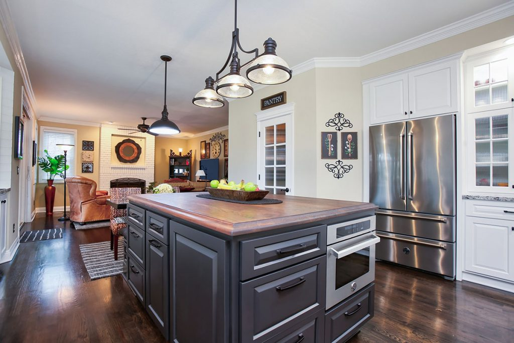 This kitchen island adds plenty of storage and style!