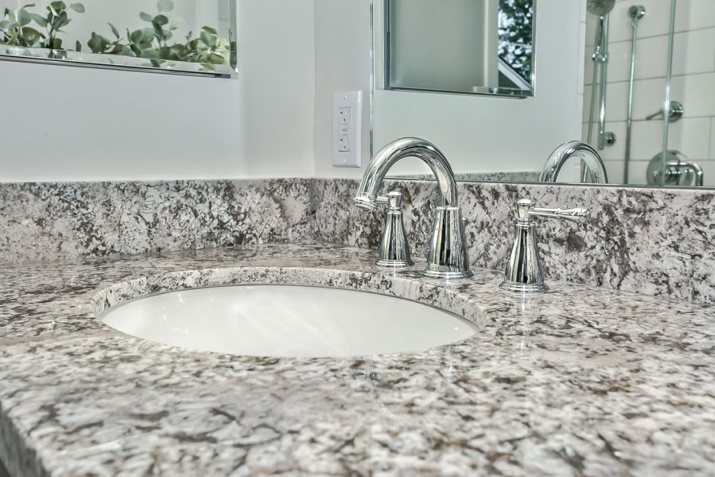 Natural stone granite counter tops, no two slabs are ever the same!