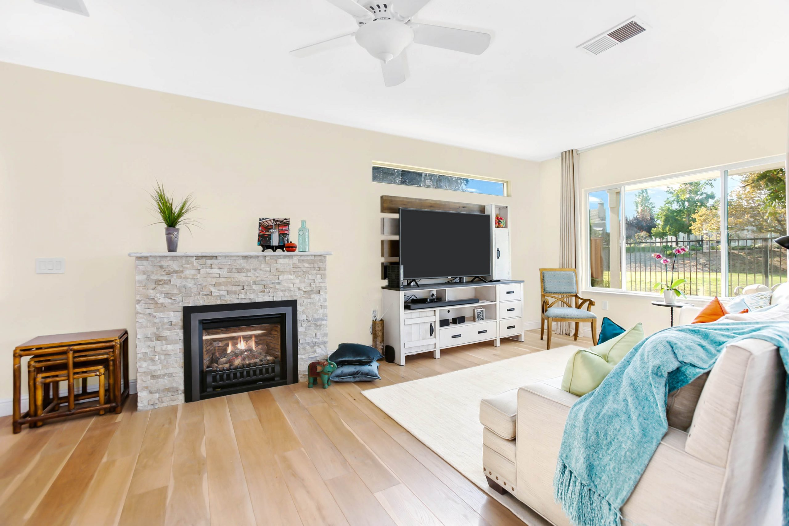 It only took a 7-foot bump out to the existing family room to give these homeowners exactly what they wanted.