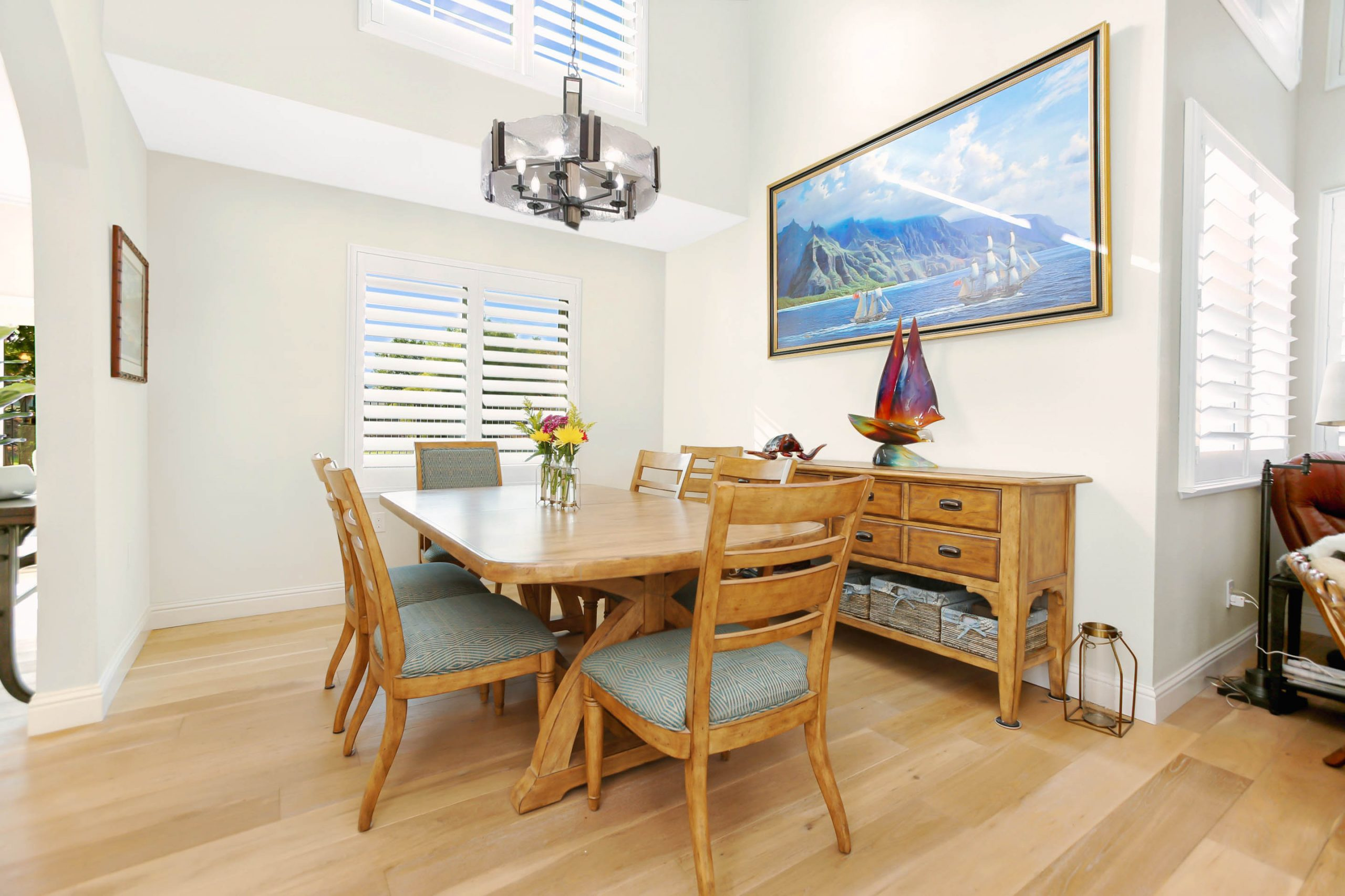 The new and improved expanded dining room offers plenty of space for large family gatherings.
