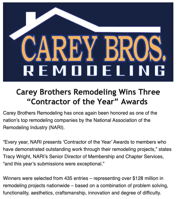 """Carey brothers remodeling wins three """"contractor of the year"""" awards 5"""